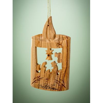 Earthwood LLC Olive Wood Candle Ornament | Wood ornaments ...