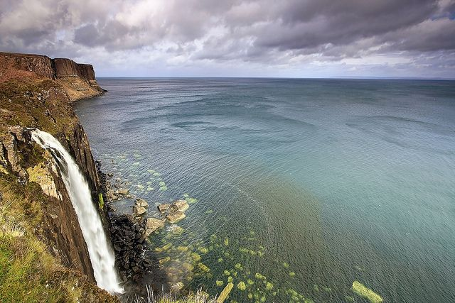 Kilt Rock Waterfall  Mealt waterfall, kilt rock on the Isle of Skye, Scotland. Credit: Emilio Carnevale