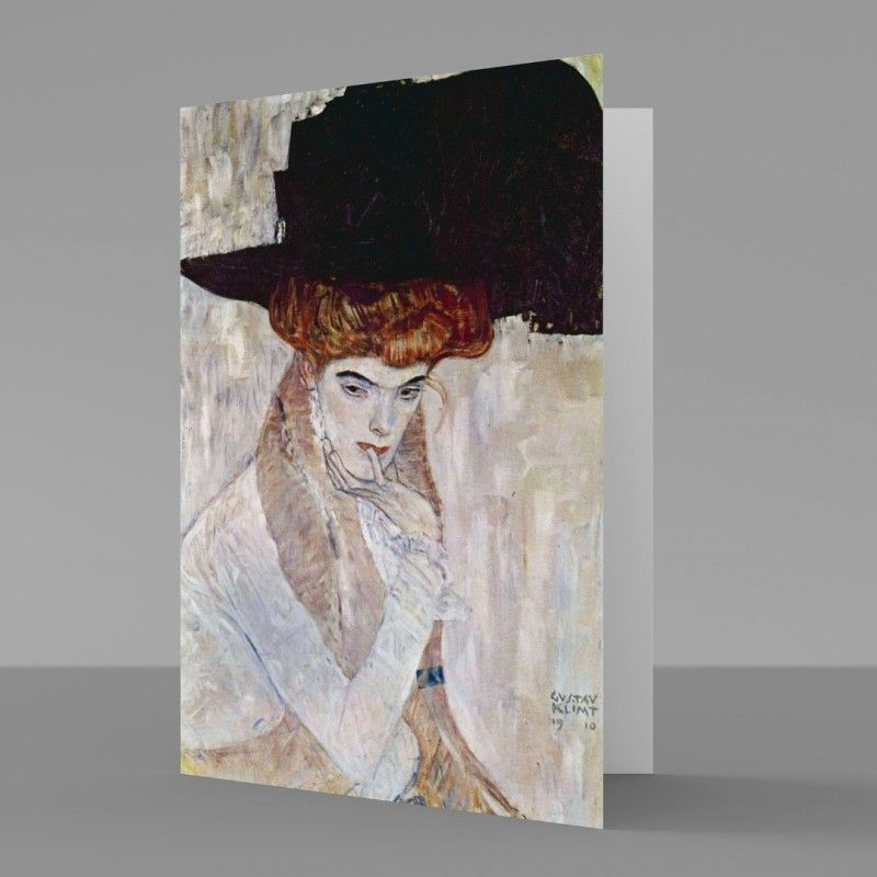 Gustav klimt the black feather hat 1910 fine art greetings card gustav klimt the black feather hat 1910 fine art greetings card m4hsunfo