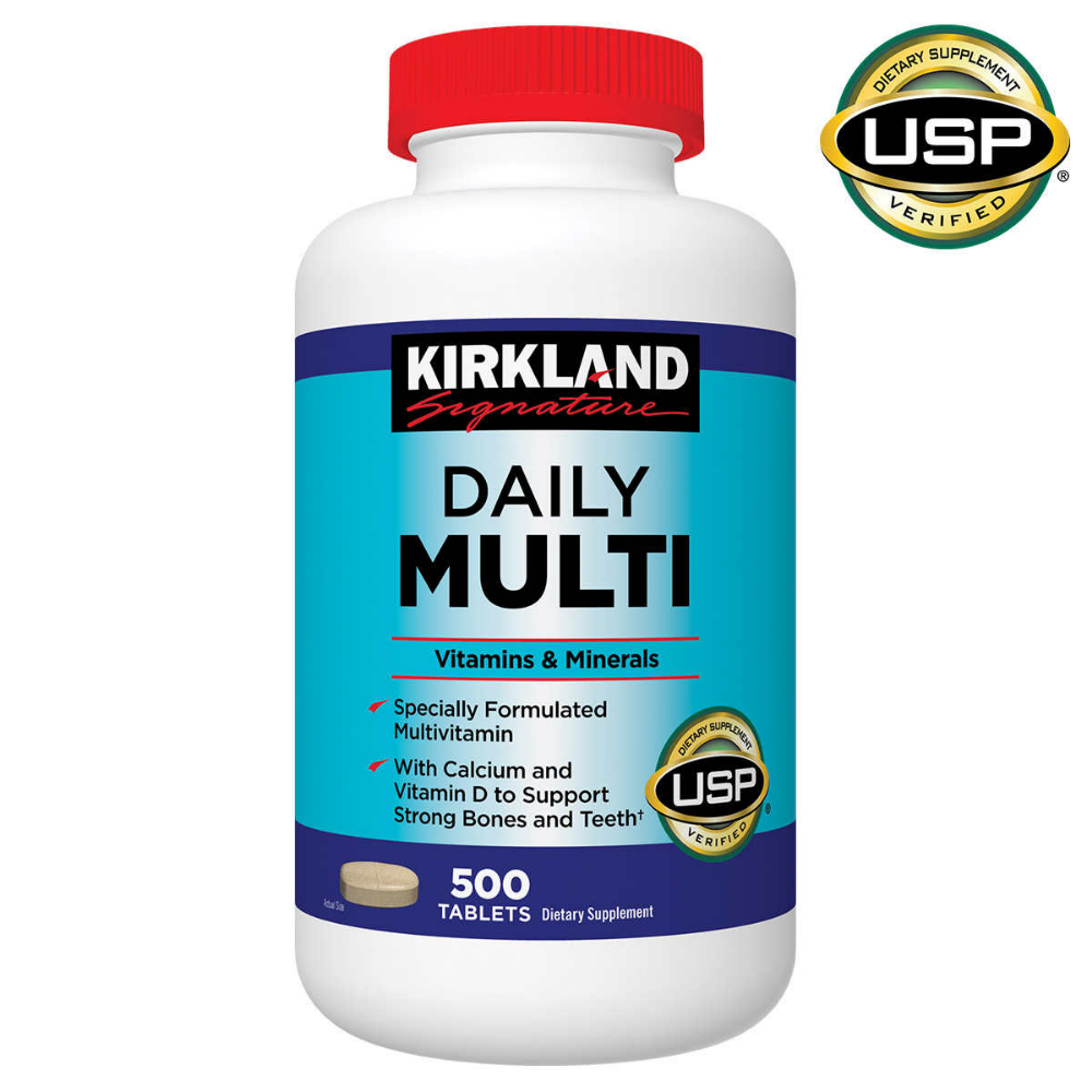 Kirkland Signature Daily Multi 500 Tablets In 2020 Multivitamin Mineral Multivitamin Vitamins