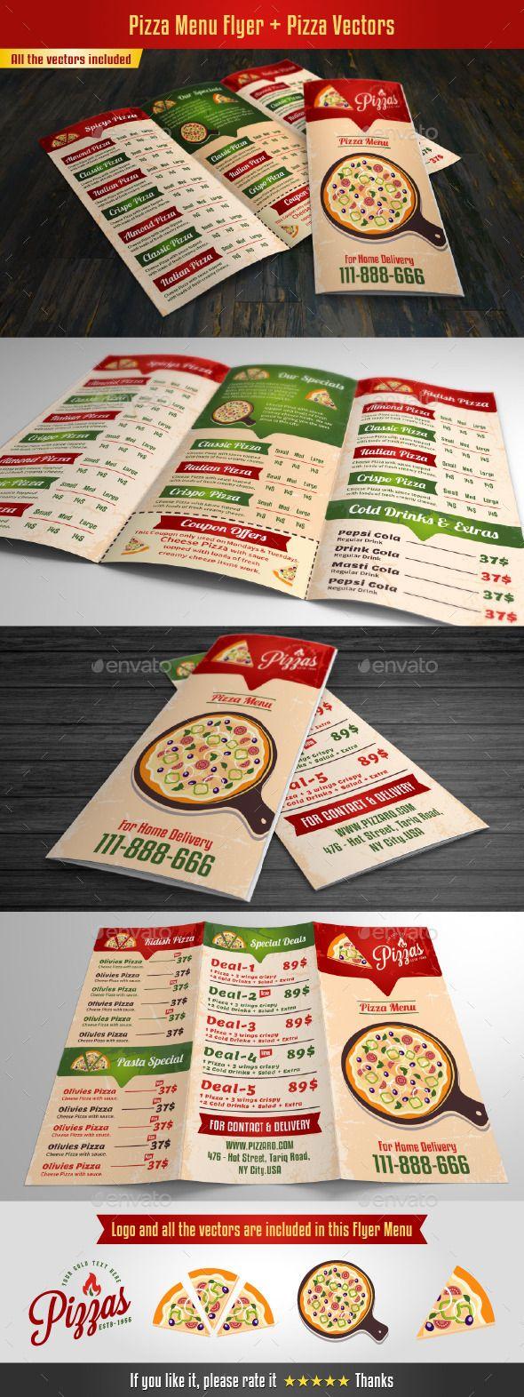Pizza Menu Flyer | Pinterest | Me gustas