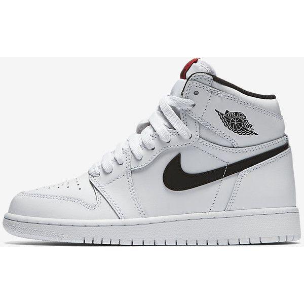 Air Jordan 1 Retro High OG Big Kids  Shoe. Nike.com ( 120) ❤ liked on  Polyvore featuring nike and shoes 19abe30e379e