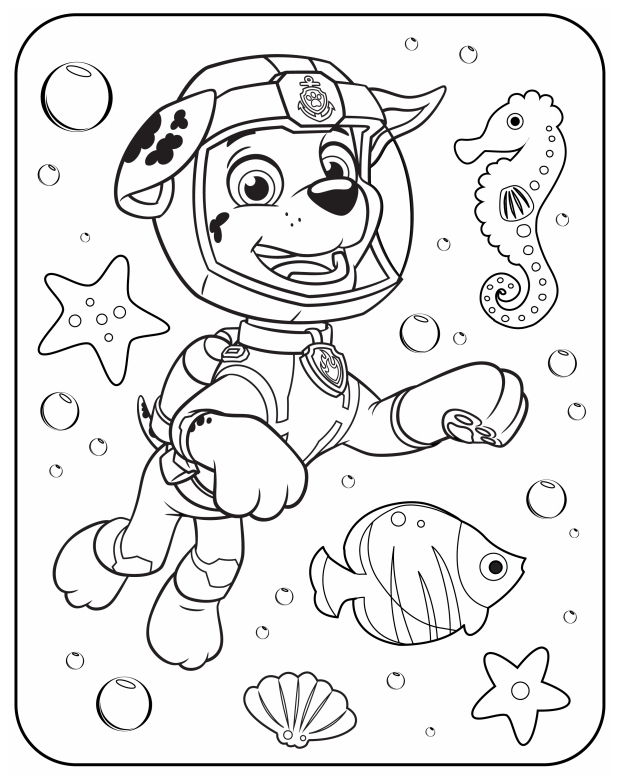 Dibujo Animado Patrulla Canina Para Pintar Libros Para Pintar Paw Patrol Para Colorear