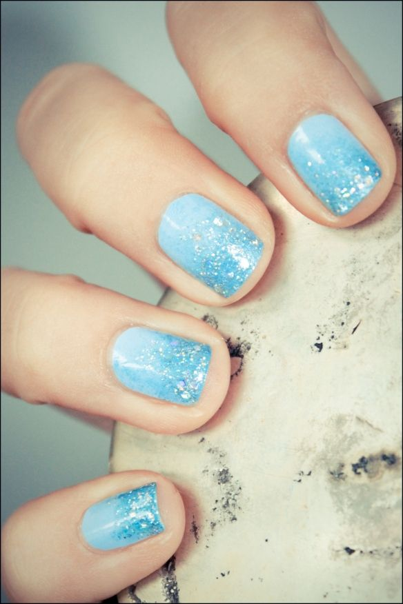 blue gradient with glitter need this in another color