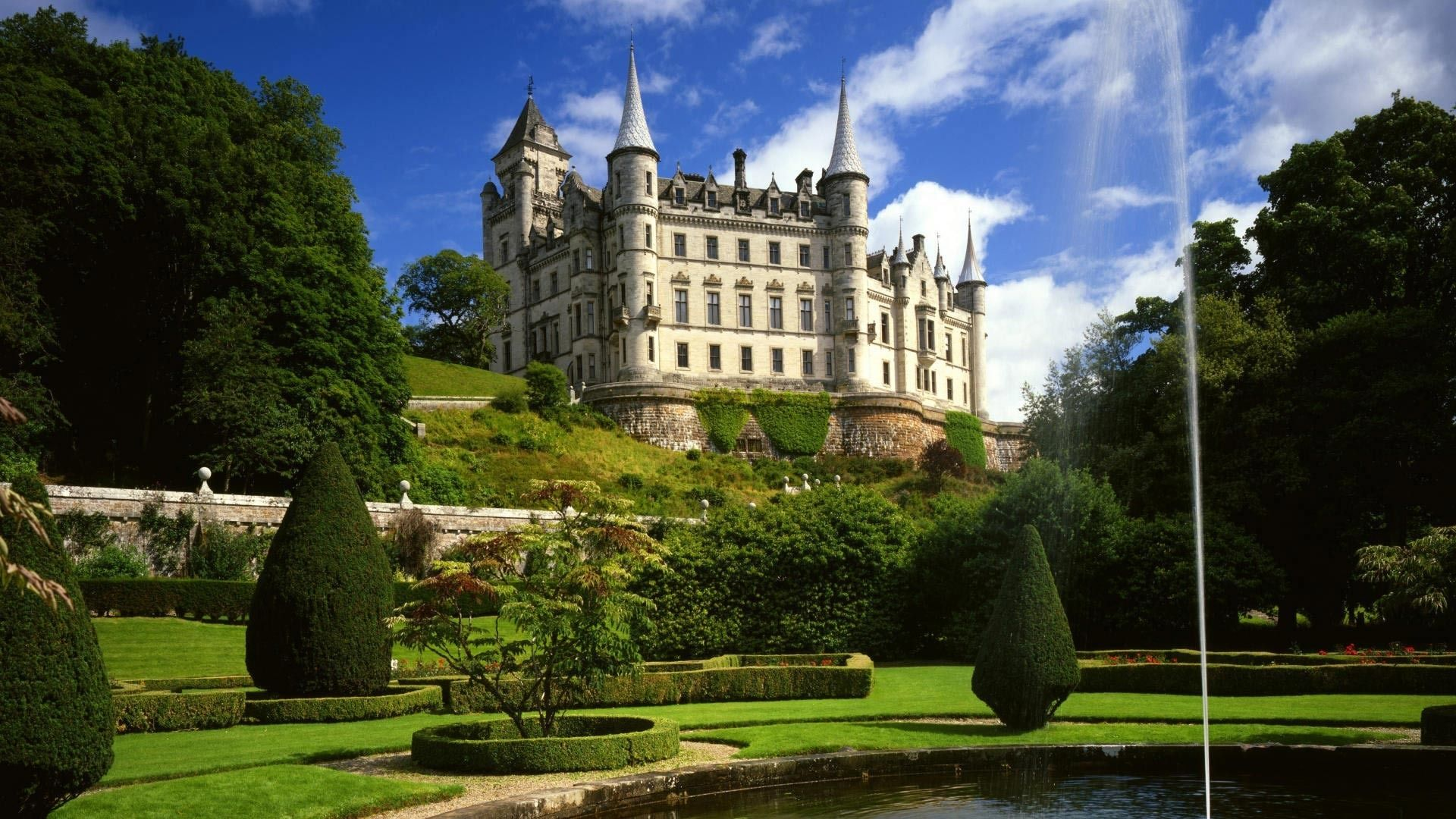 Обои scotland, Шотландия, sutherland, Dunrobin, замок. Города foto 12
