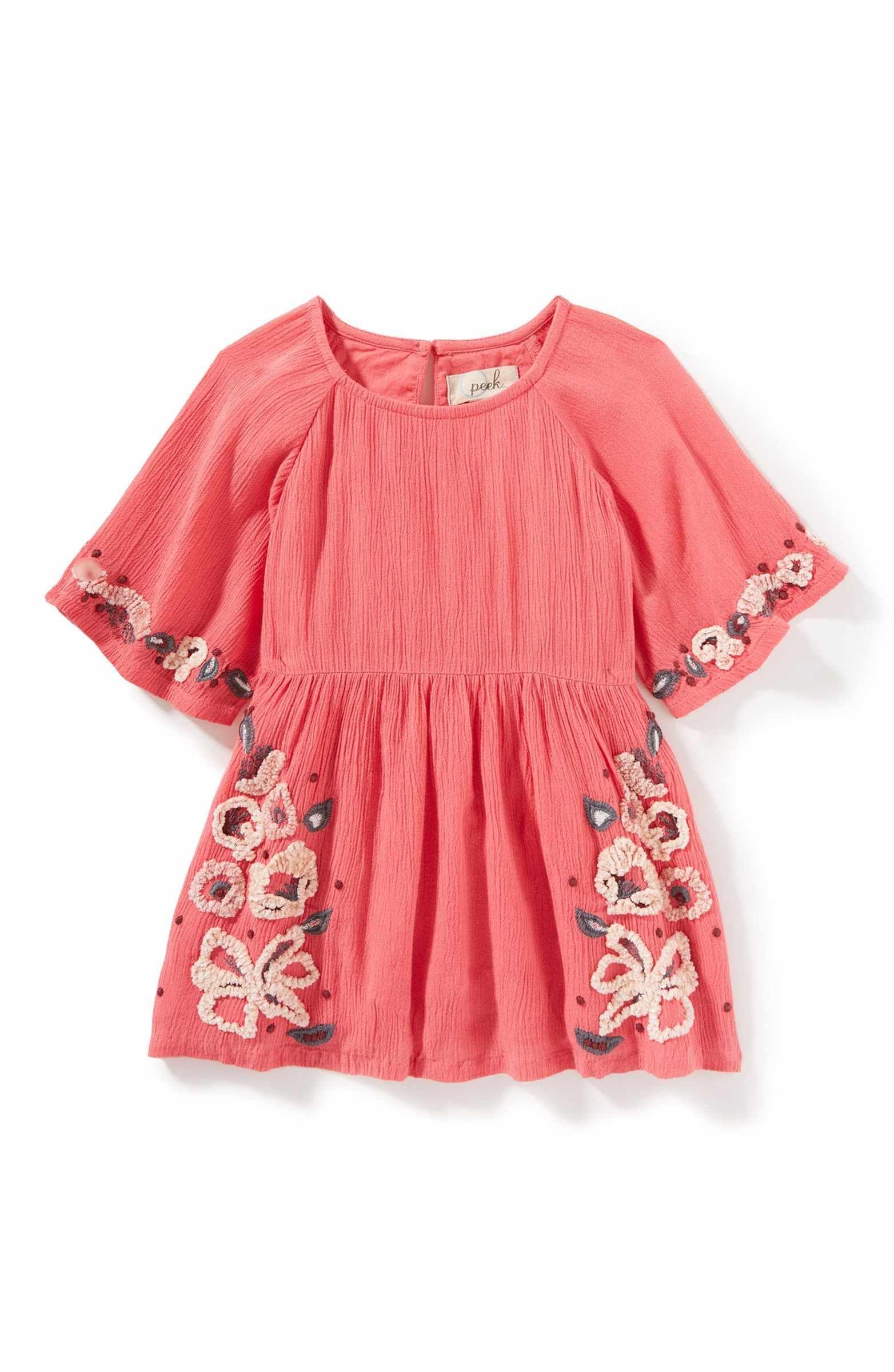 Main Image Peek Eva Gauze Dress Baby Girls