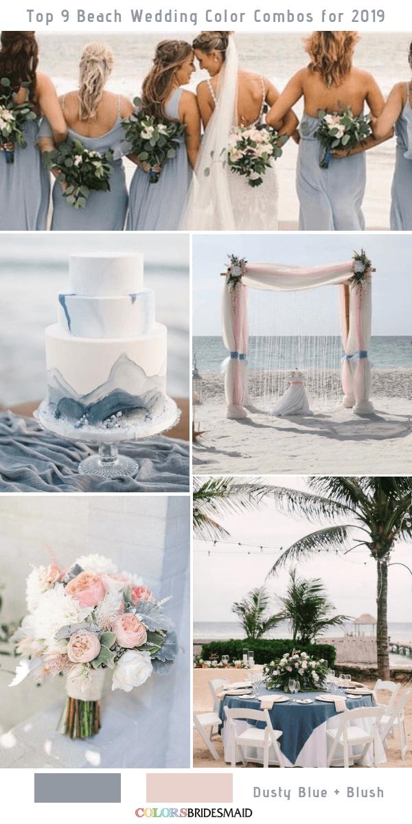 Top 9 Beach Wedding Color Combos Ideas for 2019 Blue beach wedding Beach wedding colors