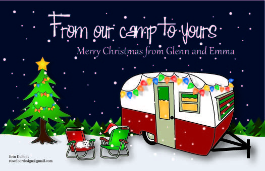 Camping Christmas Cards.Camper Christmas Card Travel Trailers Custom Christmas