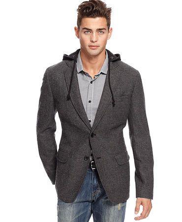 American Rag Blazer, Tweed Sport Jacket Hoodie | Men's Fall ...