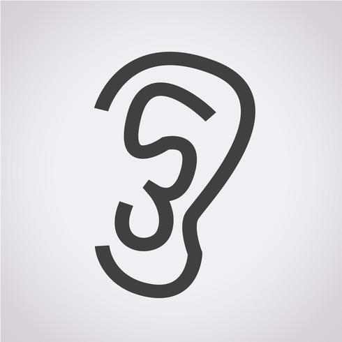 Ear Icon Symbol Sign Symbols Free Vector Illustration Vector Illustration Design