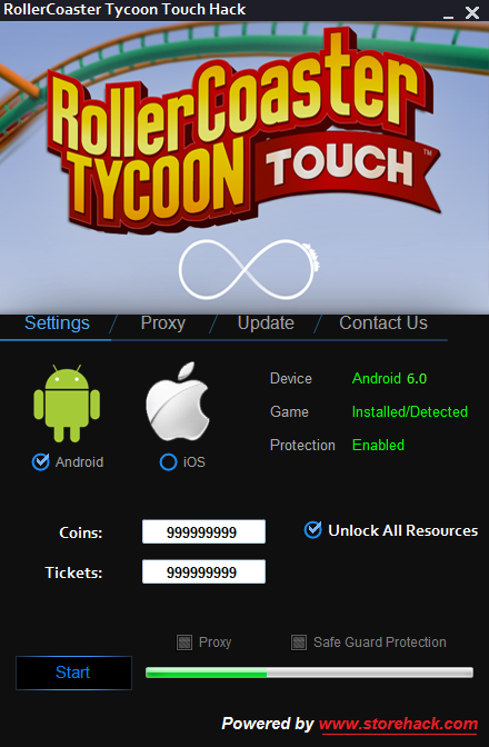 Hi again , RollerCoaster Tycoon Touch Hack was released to