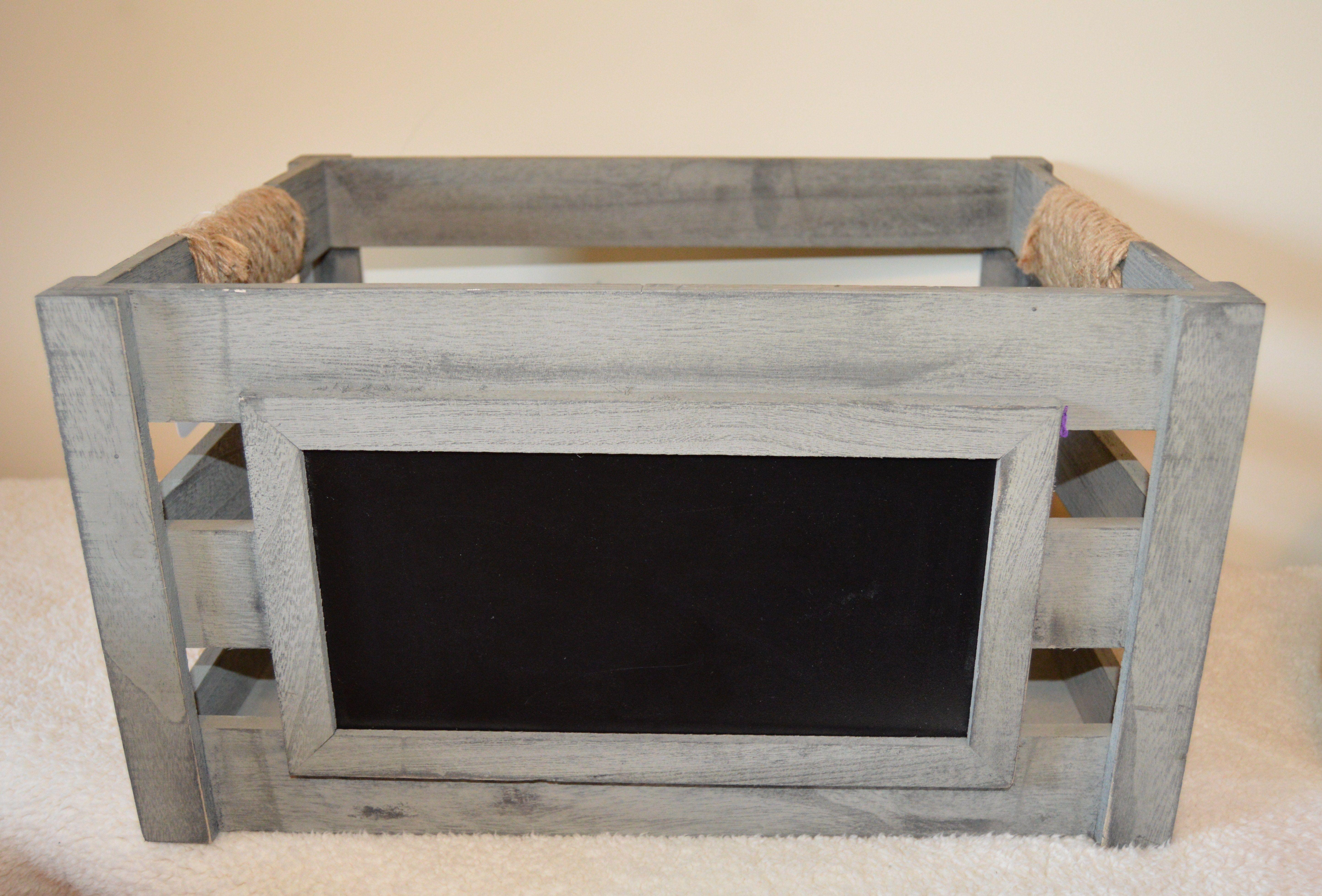 Innova Home grey wood chalkboard crate by innova home from tj maxx my