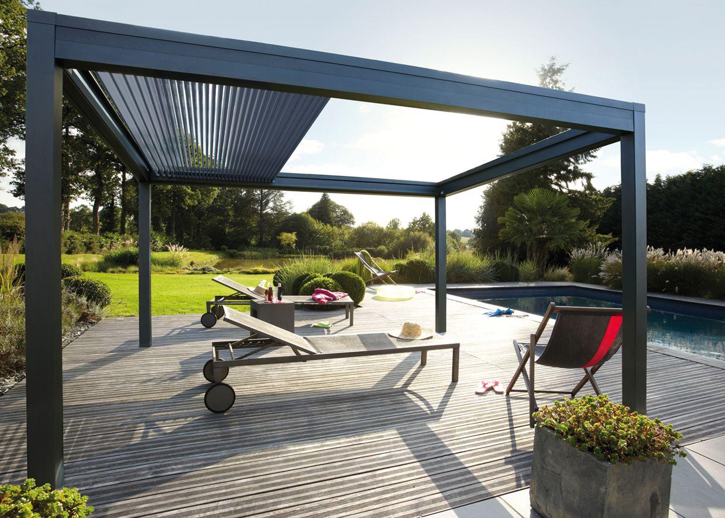 pergola bioclimatique retractable pergoklim de soliso pinteres. Black Bedroom Furniture Sets. Home Design Ideas