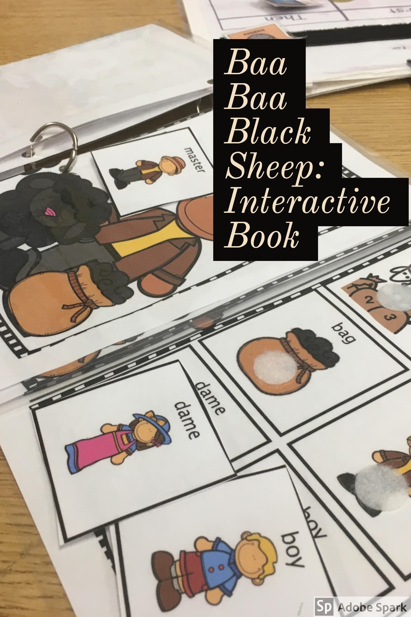 Nursery Rhyme Baa Baa Black Sheep Interactive Reader