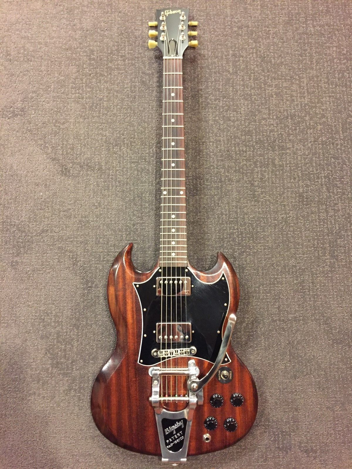 Gibson SG Faded T 2017 Worn Brown + Gig Bag, Bigsby B7