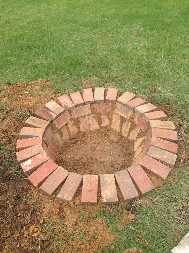 Brick paver backyard fire pit project fire pit backyard