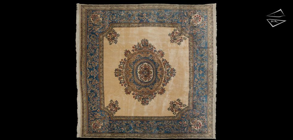 Persian Kerman Square Carpet 9 8 X 10 1 Rugs On Carpet Rugs Square Rugs