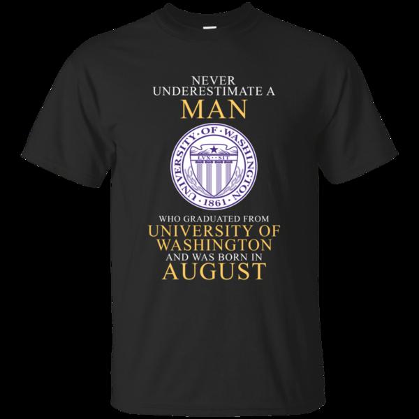Man T shirts Graduated From University Of Washington Born