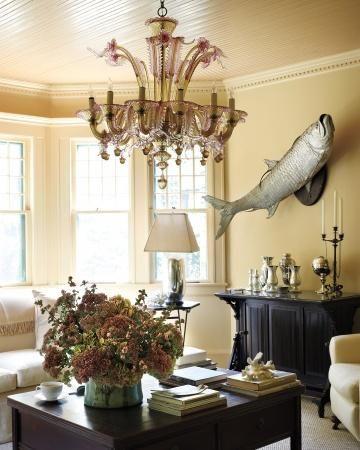 stunning east hampton living room design | Take a tour of Lily Pond, Martha Stewart's 19th-century ...