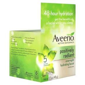 Aveeno® Positively Radiant Overnight Hydrating Facial  1.7 oz : Target