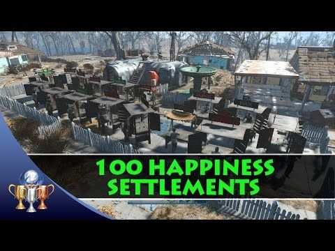 Fallout 4 - How to Get 100 Happiness in a Large Settlement