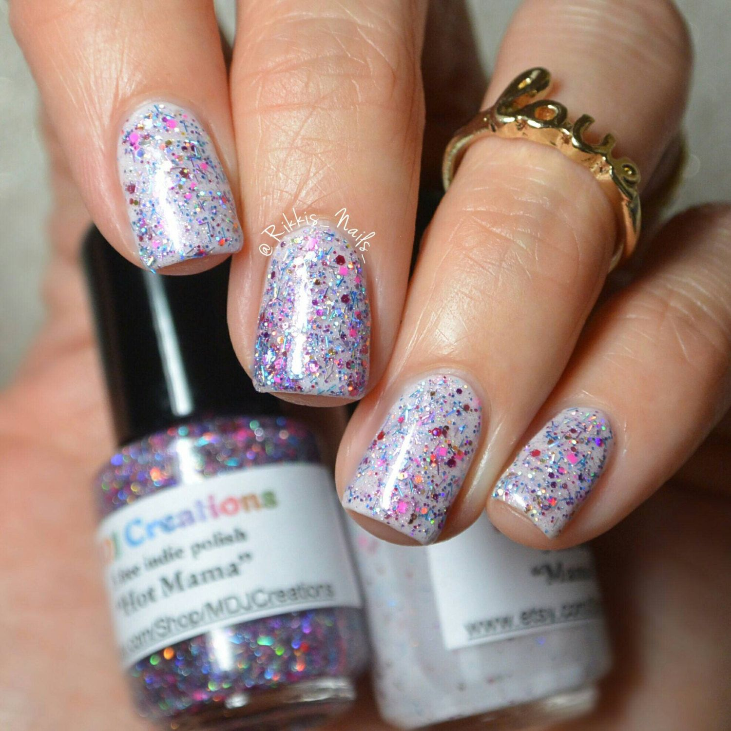 New! Mama\'s Love, Glitter Crelly 5 Free Nail Polish by MDJ Creations ...