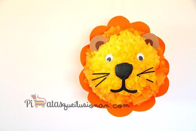 Piñatas que Ilusionan: Piñata León en versión redonda