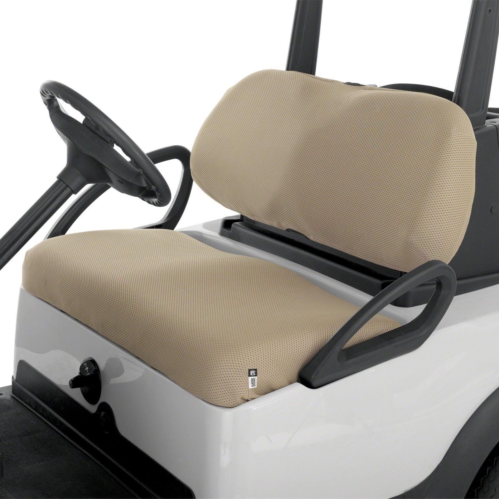 Golf Cart Bench Seat Cover Diamond Air Mesh Fabric Fairway