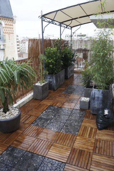 Am nagement terrasse s doumayrou terrasse pinterest for Amenagement terrasse exterieure appartement