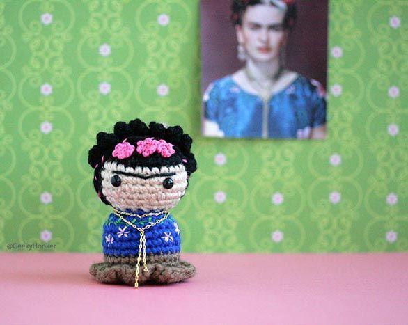Amigurumis De Frida Kahlo : Amigurumi frida frida kahlo frida kahlo doll muñeca frida