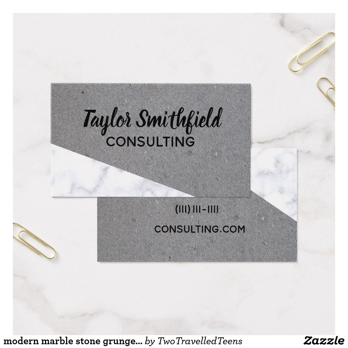 modern marble stone grunge trendy business card | Business Card ...