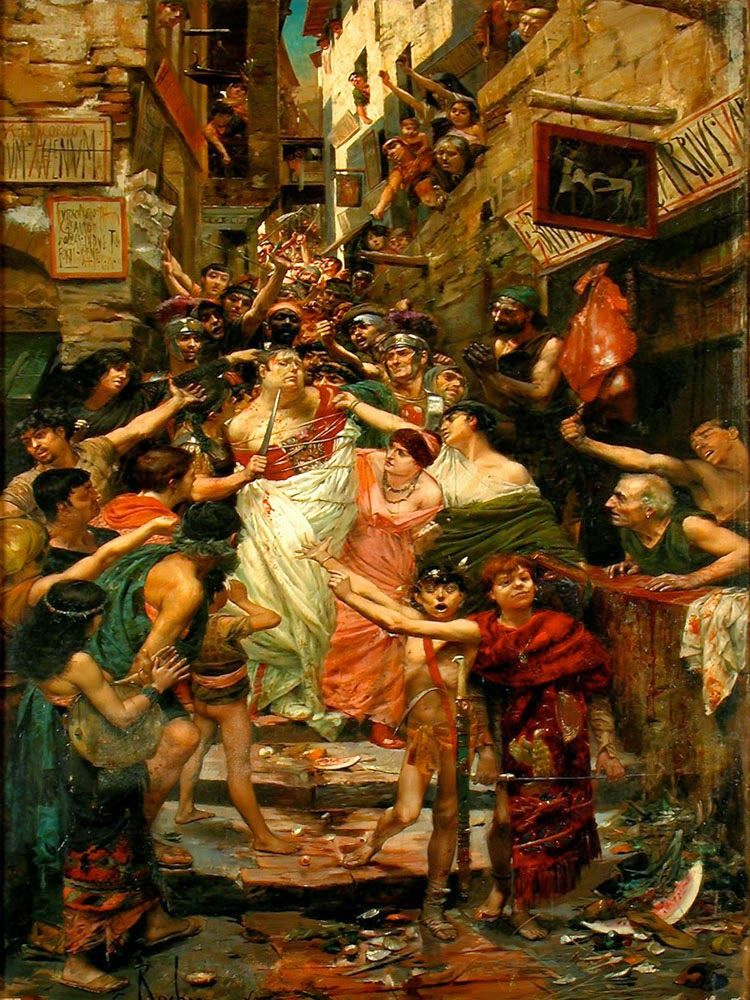 Georges Rochegrosse, Vitellius dragged through the streets of Rome by the people