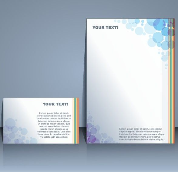 Business templates with cover brochure design vector 01 Brochure - business pamphlet templates free