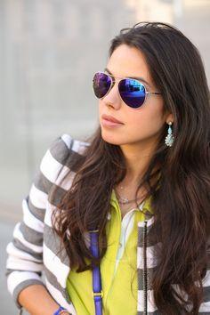 womens mirrored aviator sunglasses  ray ban aviator women mirror purple - Google Search