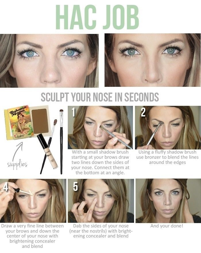 Sculpt your nose in seconds nose jobs makeup and hair makeup this picture does a great job of showing how to give yourself a nose job with make up i thought this was very useful to me because my nose is a bit wider solutioingenieria Images