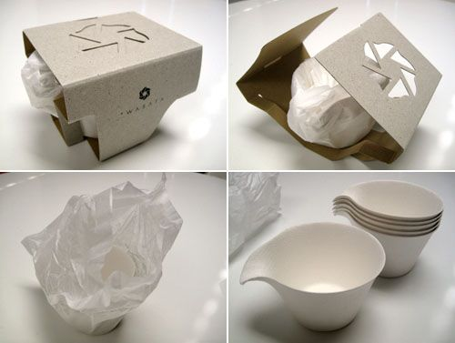 wasara eco tableware - Happy Mundane | Jonathan Lo & Crockery | packaging | Pinterest