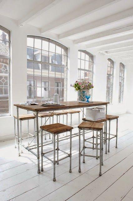 küchentisch selber bauen idea Pinterest Küchentische, Selber - küchentisch mit barhockern
