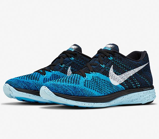 Nike Flyknit Lunar 3 – Black / Blue Lagoon – Ice Cube Blue – White