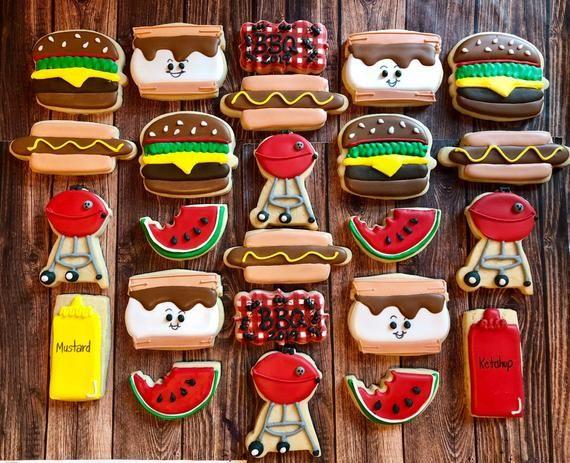 Summer sugar cookies/ Bbq theme sugar cookies