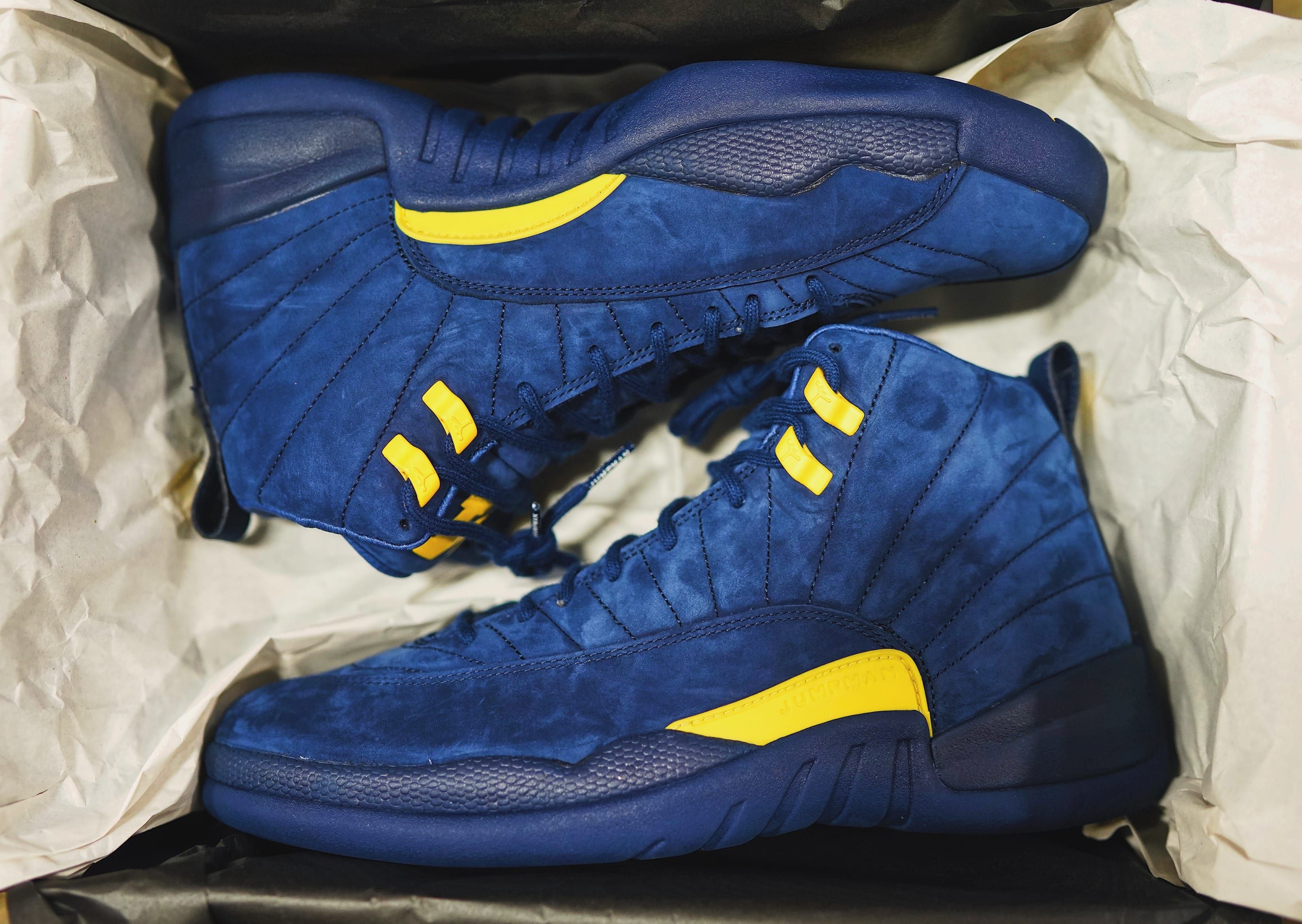 59df5ed48430  Michigan  Air Jordan 12 College Navy Amarillo BQ3180-407 Release Date