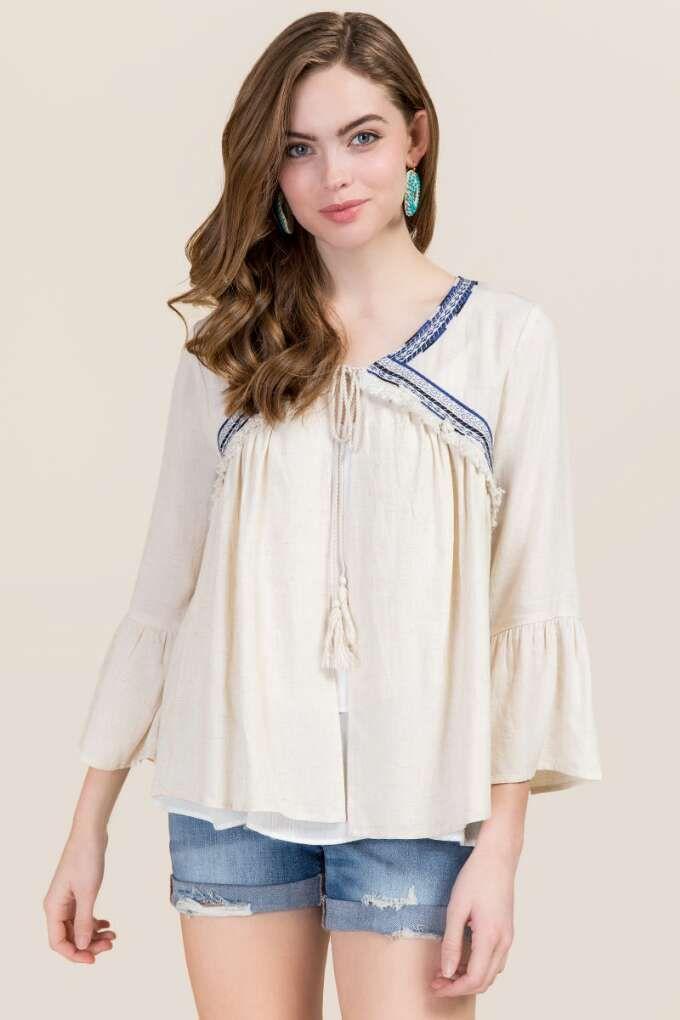 Rebekah Embroidered Kimono Jacket