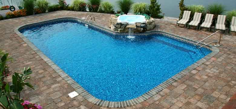 Lazy L Shaped Pools Celebrity Double Rectangle Gothic