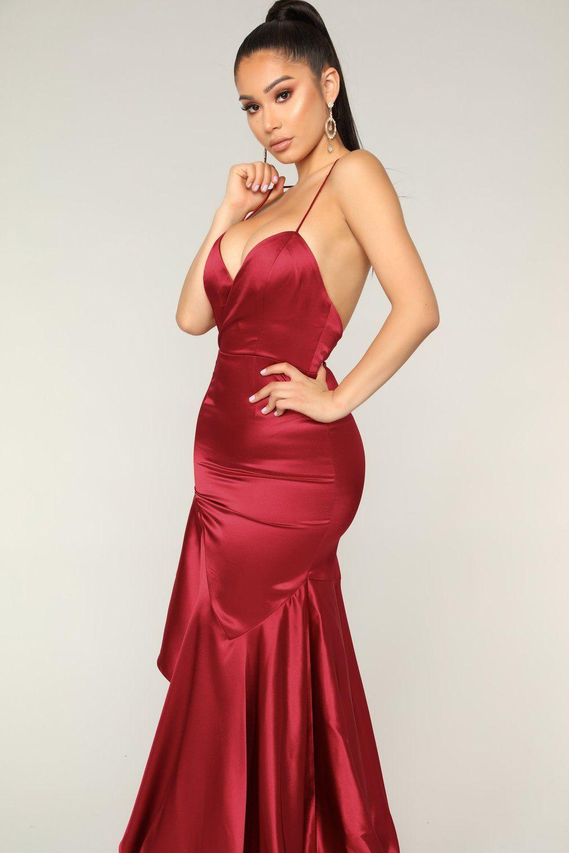 Vanessa's Favorite Maxi Dress Wine Celebrity dresses