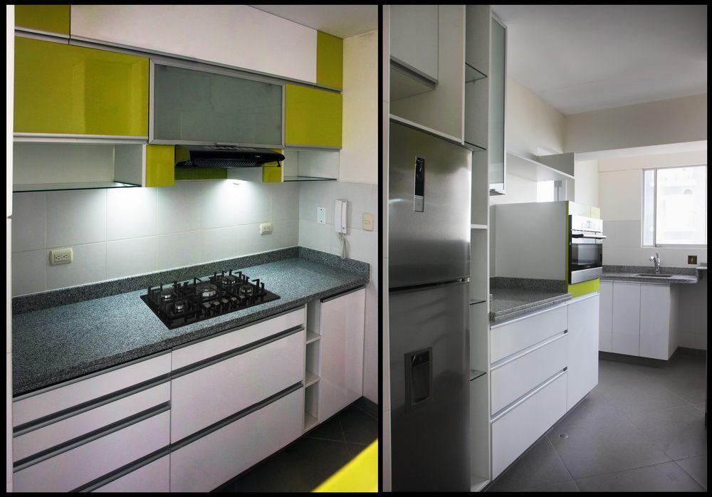 Mobiliario de cocina materiales empleados tablero de granito puertas en poliuretano - Tiradores de puertas de cocina ...