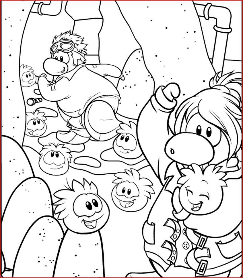 65 Gambar Club Penguin Coloring Pages Ninja Terbaik