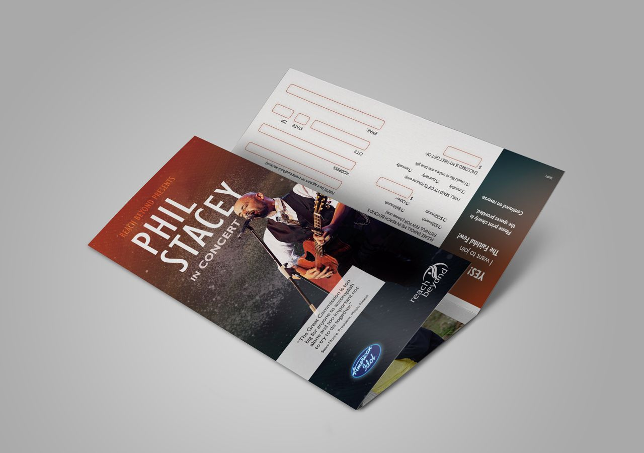 phil stacey concert identity concert promotional materials