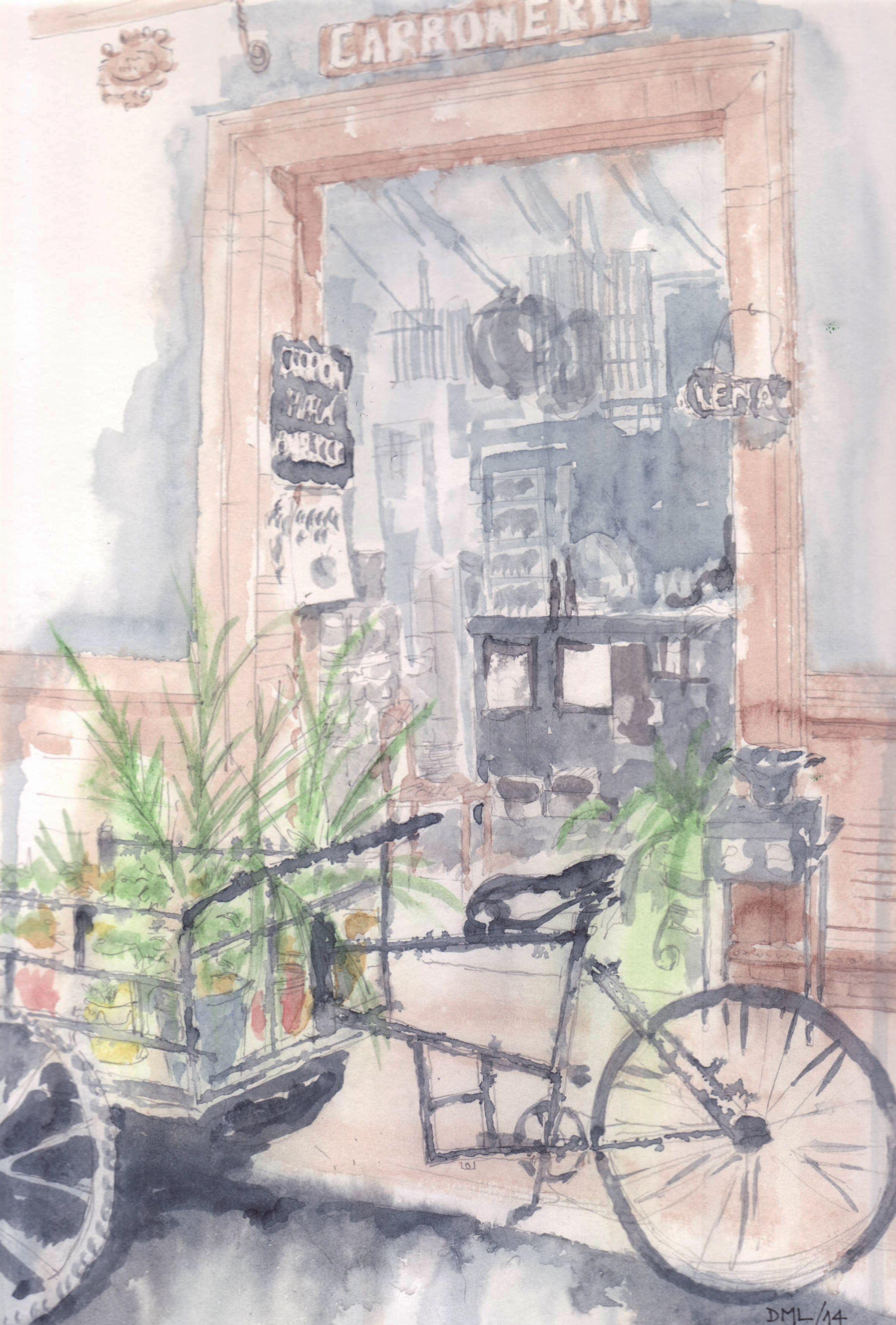 Carbonería en Sevilla - watercolor