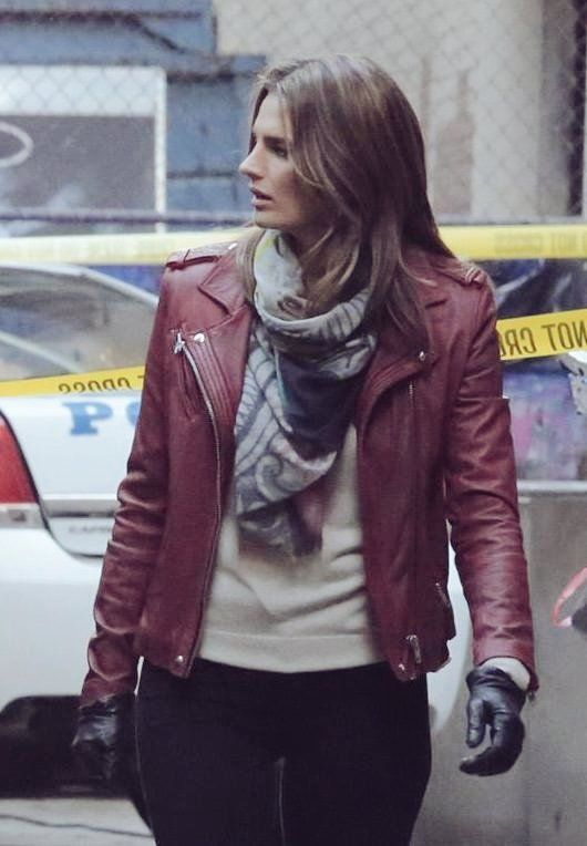 47fd42d2 Stana Katic Chile (@Stana_Katic_cl) | Twitter Castle Tv Shows, Burgundy  Leather Jacket
