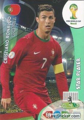 Card 277: Cristiano Ronaldo - Panini FIFA World Cup Brazil 2014. Adrenalyn XL - laststicker.com