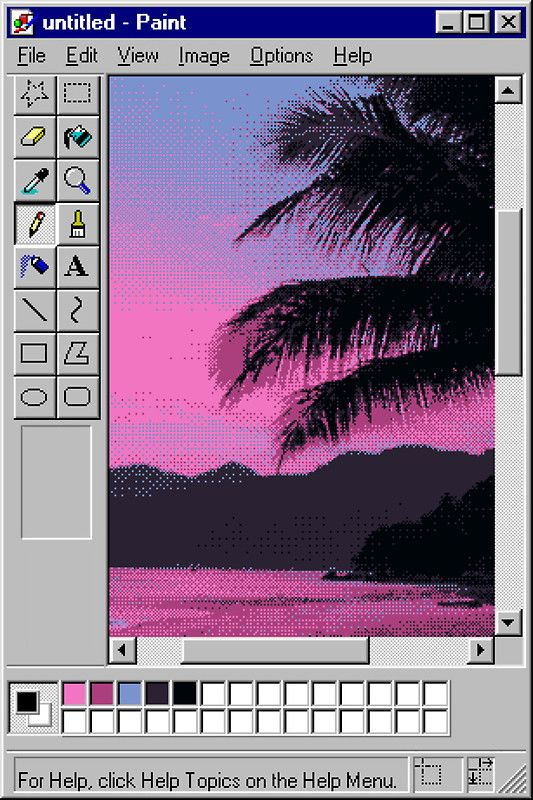 MS Sunset   Sticker in 2019   Vaporwave   Vaporwave art, Vaporwave